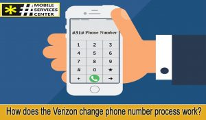 How does the Verizon change phone number process work