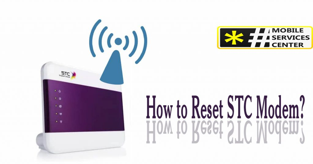 How to Reset STC Modem